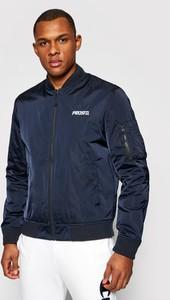 Niebieska kurtka Prosto. w stylu casual krótka