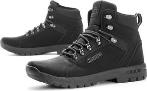 Buty zimowe Kappa sznurowane ze skóry