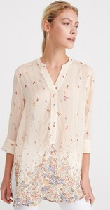 Różowa bluzka Reserved z dekoltem w kształcie litery v