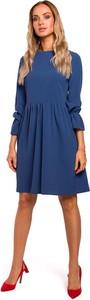 Sukienka Merg rozkloszowana z długim rękawem