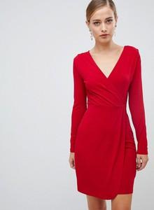 Fioletowa sukienka French Connection z długim rękawem oversize
