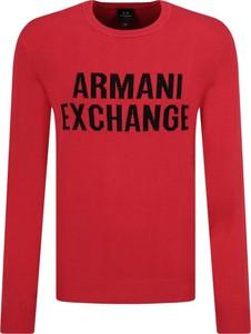 Czerwony sweter Armani Jeans