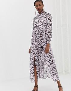 Fioletowa sukienka Glamorous z długim rękawem maxi