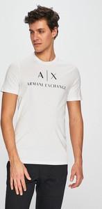 Koszulka polo Armani Exchange z dzianiny z krótkim rękawem