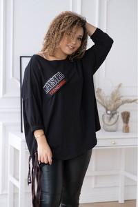Bluzka Sklep XL-ka z długim rękawem z bawełny