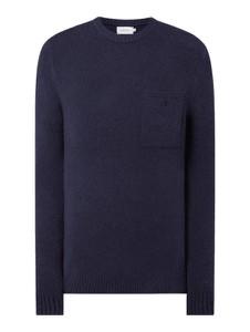 Granatowy sweter Calvin Klein z bawełny w stylu casual