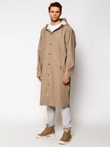 Brązowa kurtka Rains długa