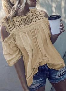 Bluzka Sandbella z okrągłym dekoltem w stylu casual