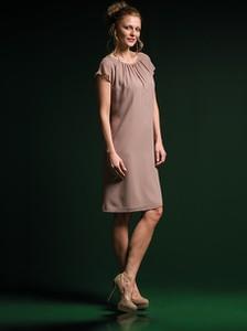Różowa sukienka Risca z tkaniny