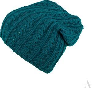 Niebieska czapka EVANGARDA z dzianiny