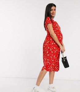 Czerwona sukienka Wednesday`s Girl Maternity