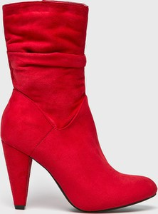 Czerwone botki Answear
