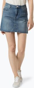 Niebieska spódnica Review z bawełny w stylu casual