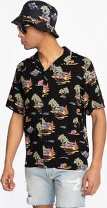 Czarna koszula Carhartt WIP z nadrukiem z klasycznym kołnierzykiem