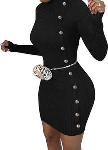 Czarna sukienka Cikelly z golfem mini