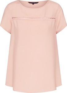 Różowa bluzka Vero Moda z krótkim rękawem