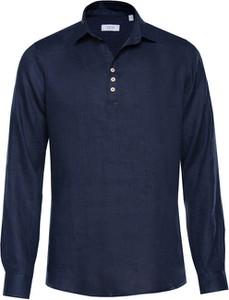 Koszulka z długim rękawem Veva w stylu casual z długim rękawem z lnu
