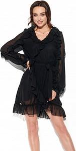 Sukienka Lemoniade z szyfonu z długim rękawem