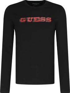 Czarna koszulka z długim rękawem Guess z długim rękawem
