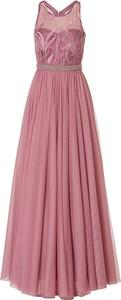 Różowa sukienka Vera Mont bez rękawów z okrągłym dekoltem