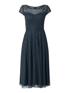 Sukienka Vera Mont maxi rozkloszowana z krótkim rękawem