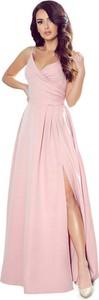 Sukienka NUMOCO kopertowa na ramiączkach maxi