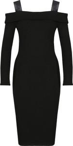 Sukienka Guess dopasowana w stylu casual z długim rękawem