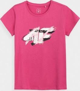 Różowa bluzka dziecięca 4F