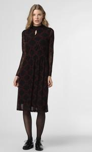 Czarna sukienka comma, z długim rękawem