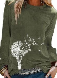 Zielona bluzka Sandbella z długim rękawem w militarnym stylu
