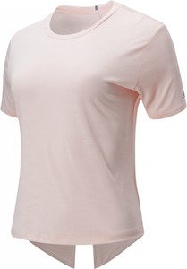 Bluzka New Balance z żakardu z okrągłym dekoltem w stylu casual