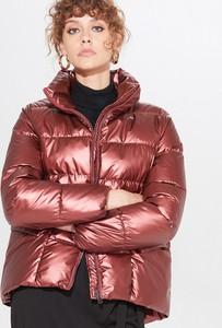 Czerwona kurtka Mohito krótka w stylu casual