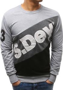 Dstreet bluza męska z nadrukiem szara (bx3454)