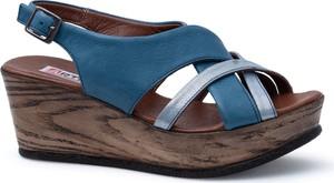 Niebieskie sandały Lanqier w stylu casual