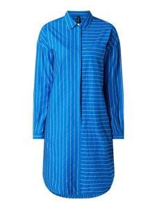 Niebieska sukienka Marc Cain w stylu casual z długim rękawem