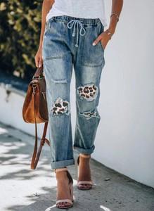 Niebieskie jeansy Sandbella z bawełny w stylu casual
