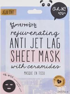 Oh K! Anti Jet Lag – Odmładzająca maseczka w płachcie na efekty jet lag-Brak koloru