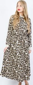 Sukienka Olika z długim rękawem maxi z bawełny