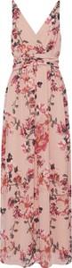 Różowa sukienka Vero Moda bez rękawów z dekoltem w kształcie litery v