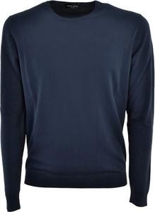 Niebieski sweter Roberto Collina w stylu casual