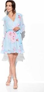 Sukienka Lemoniade z szyfonu mini z dekoltem w kształcie litery v