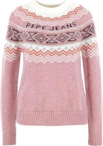 Sweter Pepe Jeans z wełny w stylu casual