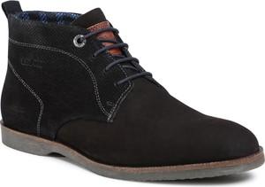 Czarne buty zimowe S.Oliver sznurowane