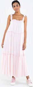 Sukienka Big Star z okrągłym dekoltem na ramiączkach z tkaniny