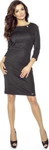 Sukienka Pawelczyk24.pl dopasowana z okrągłym dekoltem midi