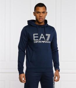 Niebieska bluza Emporio Armani z bawełny w młodzieżowym stylu