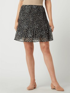 Granatowa spódnica Minus z szyfonu mini