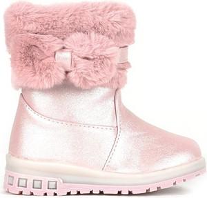 Różowe buty dziecięce zimowe Royalfashion.pl dla dziewczynek