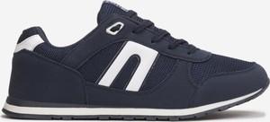Granatowe buty sportowe born2be sznurowane w sportowym stylu