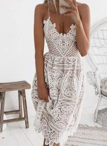 Sukienka Sandbella z dekoltem w kształcie litery v midi w stylu boho